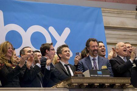 Online data storage provider Box's shares soar in debut