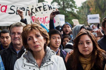 U.S. university head sent on leave over claim she quashed bad publicity