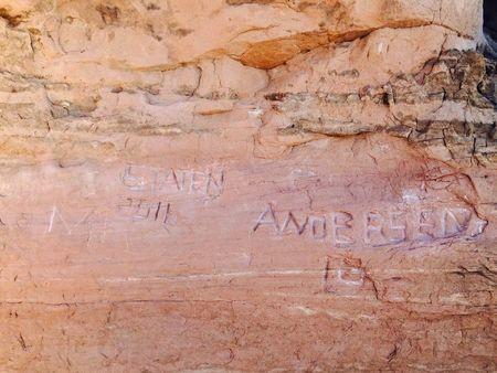 Graffiti at Utah's Arches National Park may be irreparable