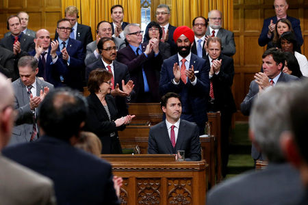 Canada's Trudeau apologizes after physical altercation in Parliament