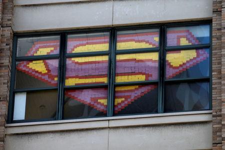Post-it note art war engulfs ad agencies on New York City street