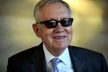 U.S. Senate's Reid, in last round, jabs outside money in Nevada succession fight