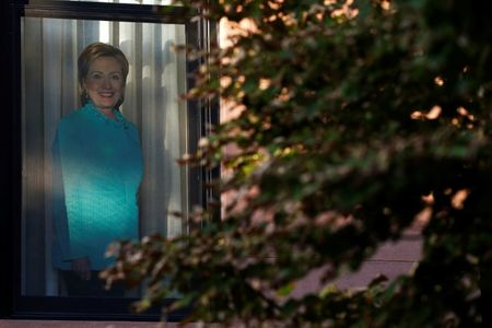 For some Democrats, it's voting for Clinton - and keeping it quiet