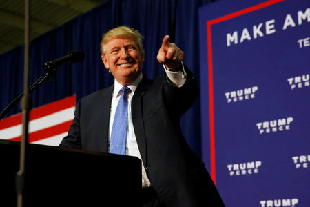 Trump gains on Clinton, poll shows 'rigged' message resonates