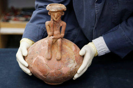 Ancient 'thinking person' statuette unearthed in Israel
