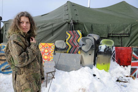 Yurts, cleats, coats: Dakota protesters dig in for brutal winter