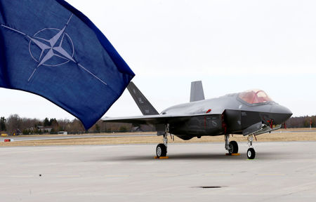 U.S. F35s fly into Estonia in show of NATO solidarity
