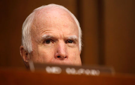 Republican Senator McCain will return Tuesday for healthcare vote