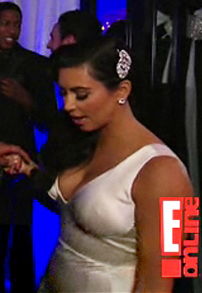 PIC See Kim Kardashian 39s Sexy Wedding Reception Dress Wardrobe change