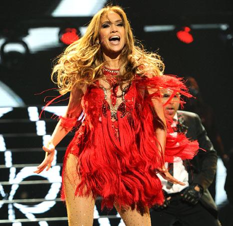 Jennifer Lopez Amazes Vegas Crowd in Tight, Sexy Red Dress