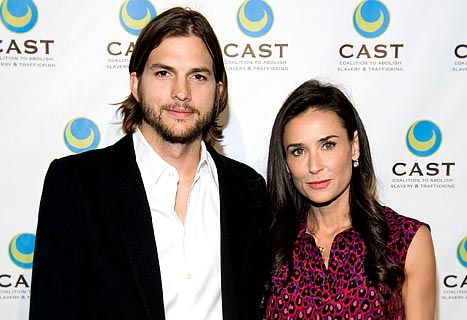 Demi Moore Visits Ashton Kutcher on Two and a Half Men Set