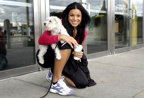 Jordin Sparks Is All Smiles in Reebok Sneakers!