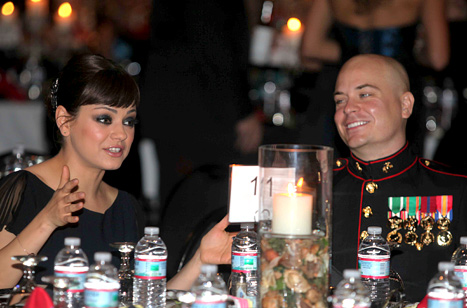 "Mila Kunis' Marine Corps Ball Date: She ""Exceeded My Expectations"""