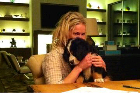 PIC: Chelsea Handler Adopts 10-Week Old Bernese Mountain Dog