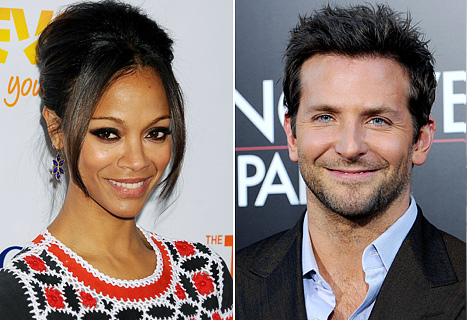 New Couple Bradley Cooper, Zoe Saldana