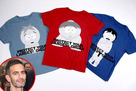 Герои мультфильма South Park украсили майки Marc by Marc Jacobs.