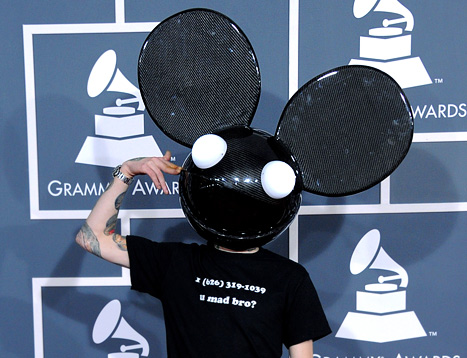 Deadmau5 Wears Skrillex's Phone Number on Grammys T-Shirt