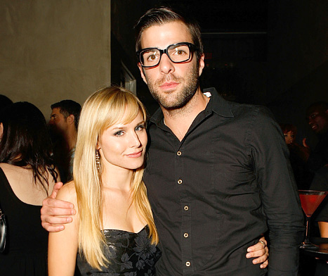 "Kristen Bell ""Wildly Proud"" of Zachary Quinto for Coming Out Publicly"
