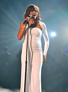 "Whitney Houston's Casket Carried Out to ""I Will Always Love You"""