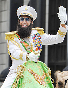 Sacha Baron Cohen Allowed to Attend Oscars as The Dictator's General Alladeen