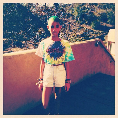 PIC: Willow Smith Dyes Her Hair Green