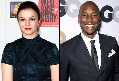 LOL! Amber Tamblyn Mistaken for Amber Rose, Punks Tyrese Gibson With Rap