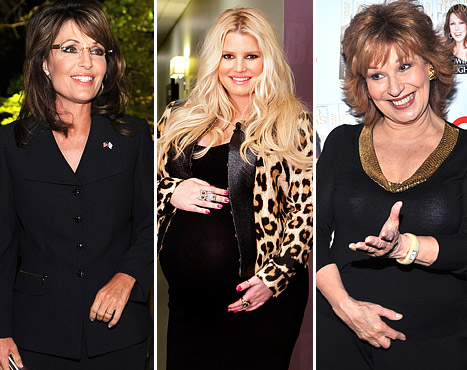 Pregnant Jessica Simpson&#39;s Weight Gain Bashed by Joy Behar, Defended by Sarah Palin