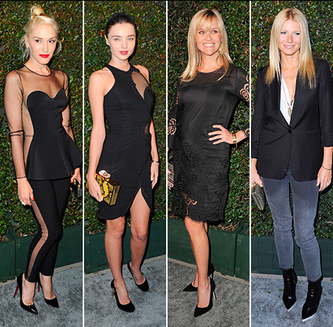 "Gwen Stefani, Miranda Kerr, Reese Witherspoon and Gwyneth Paltrow attend the world premiere of ""My Valentine"" on April 13, 2012 in California"