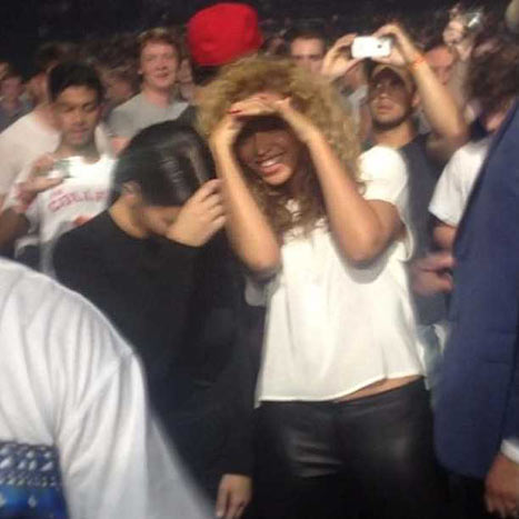 Kim Kardashian Dances With Beyonce at Kanye West and Jay-Z's Concert!