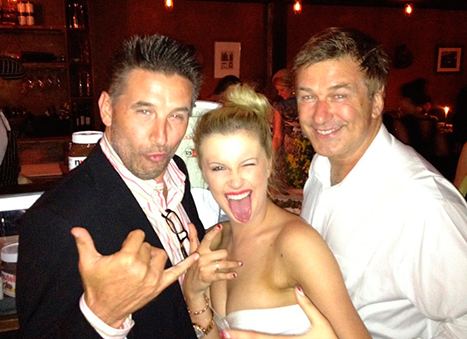 PIC: Ireland Baldwin, 16, Parties With Dad Alec on Eve of Wedding