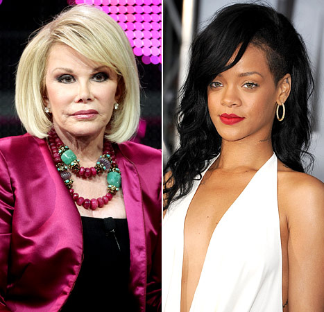 "Joan Rivers Warns Rihanna: ""If He Hit You Once, He'll Hit You Again"""