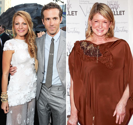 Martha Stewart: Blake Lively, Ryan Reynolds Looked &quot;Very Gorgeous&quot; at Wedding