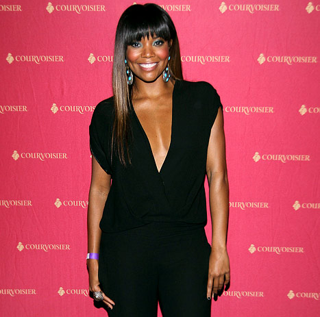 Gabrielle Union Flaunts Cleavage in Sexy Black Jumpsuit at 40th Birthday Party