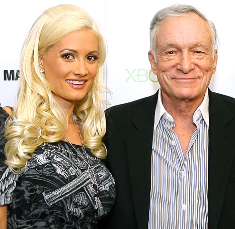 Hugh Hefner to Pregnant Ex Holly Madison: Get Well!