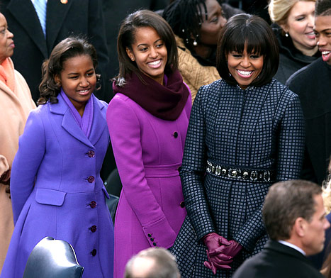 Michelle Obama, Daughters Sasha And Malia: What the First Family Wore to the Presidential Inauguration