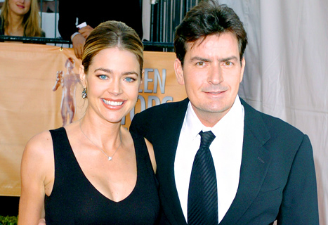 "Denise Richards Scolds Charlie Sheen on Twitter: ""Time to Pack It In and Go to Bed"""