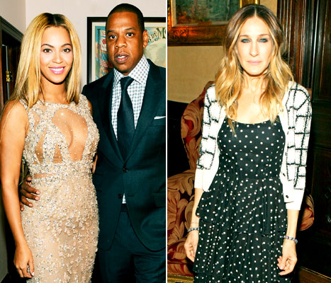 Beyonce, Jay-Z &quot;Blew Off&quot; Oscars Night to Hang Out With Sarah Jessica Parker in New York City