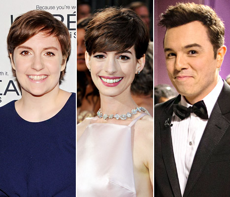 "Lena Dunham Supports Anne Hathaway, Slams Seth MacFarlane's ""We Saw Your Boobs"" Song at Oscars"
