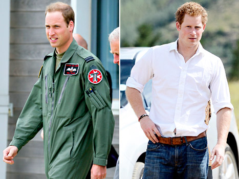 Prince William Rescues Couple Stranded in Snowdonia, Prince Harry Visits Kids in Africa