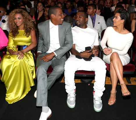 Beyonce, Jay Z Visit Kim Kardashian and Baby North West at Home
