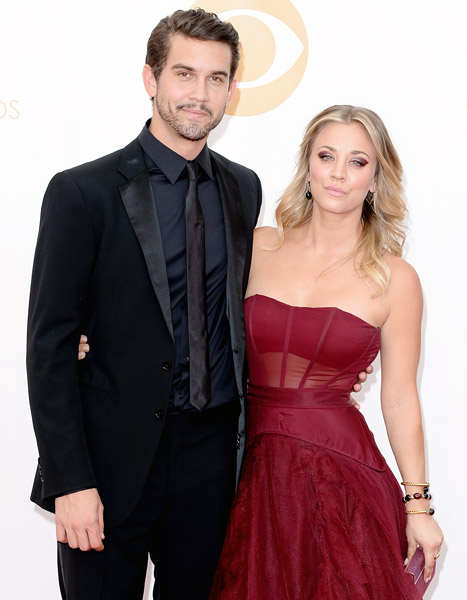 Kaley Cuoco hit the Emmys with Ryan Sweeting (Getty Images)
