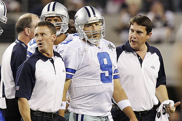 Fantasy disaster: Tony Romo breaks his left collarbone