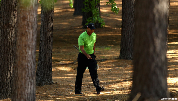 Tiger Woods struggles in first round at Quail Hollow