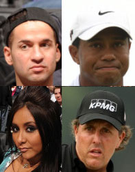 The PGA and 'Jersey Shore': not as far apart as you'd think