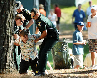 Sawgrass justice: Tiger heckler gets the Taser treatment
