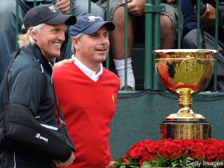 Fred Couples and Greg Norman, captains again