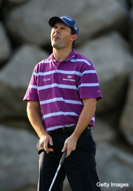Padraig Harrington swing-tinkers again. Of course he does