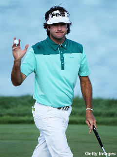 Not even a double-bogey can keep Bubba Watson down