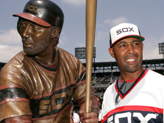 An interview with the newly unveiled Harold Baines statue