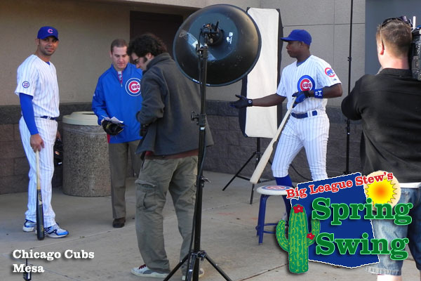 Spring Swing: Cubs' Soriano can't do photo shoot without pine tar